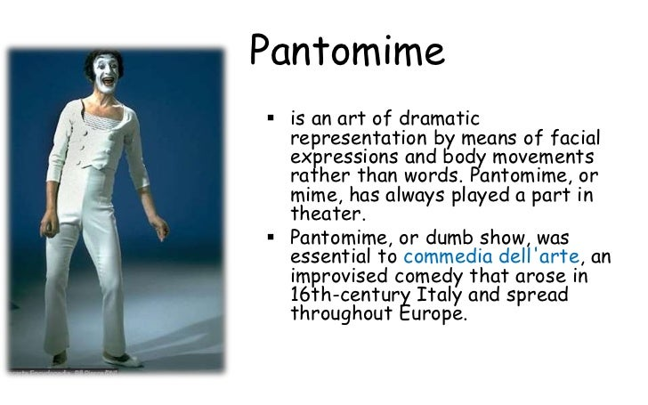 What were the essential aspects of pantomime
