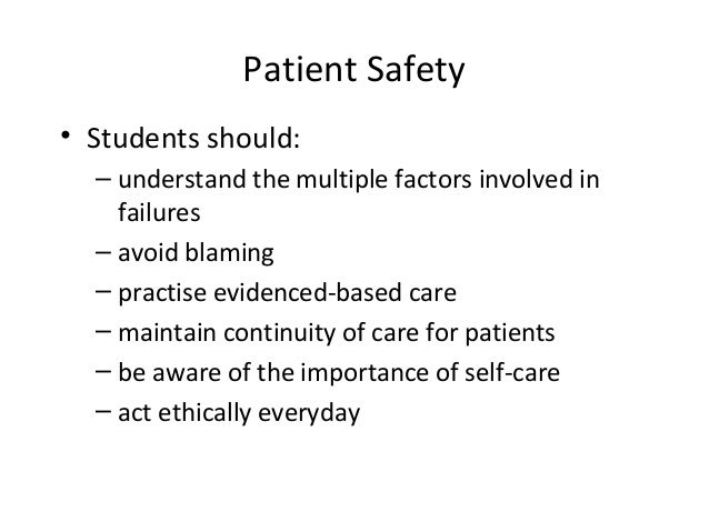 Josie's Story: A Patient Safety Curriculum