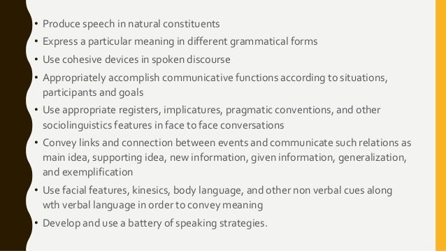 Conclusion of oral communication in english forms functions and strategies