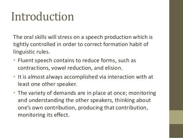 Teaching Oral Skill