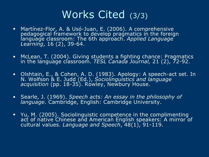 searle speech acts an essay in the philosophy of language John r searle speech acts an essay in the philosophy of language - ebook download as pdf file (pdf) or read book online.