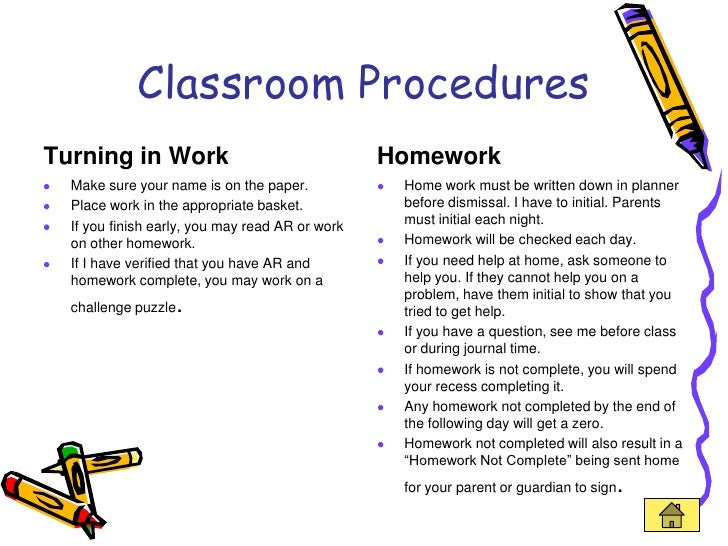 Elementary Classroom Procedures : Teaching portfolio linked in