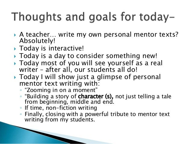 mentor texts for writing a lead