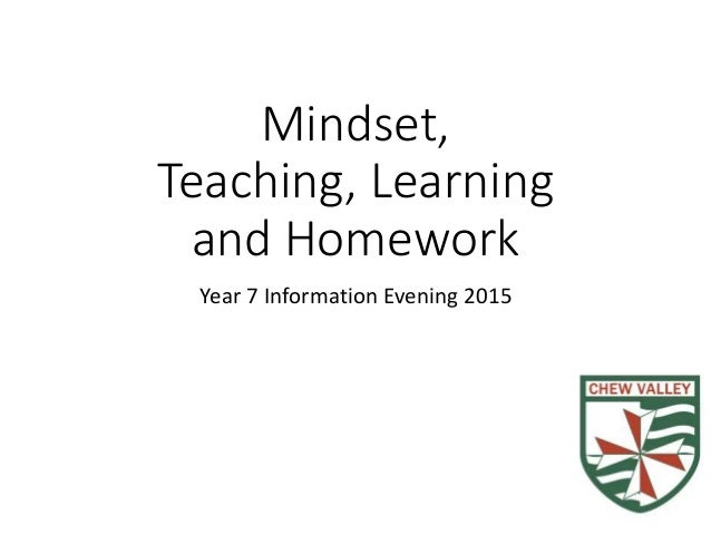 Mindset, Teaching, Learning and Homework Year 7 Information Evening 2015