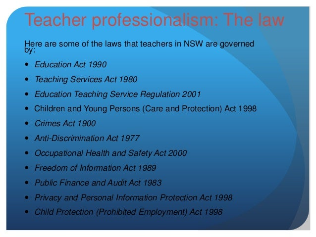 teaching profession