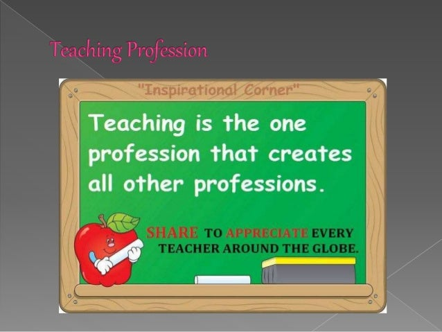 teaching is not a profession