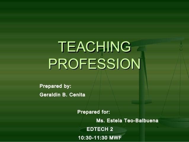 Teaching profession powerpoint