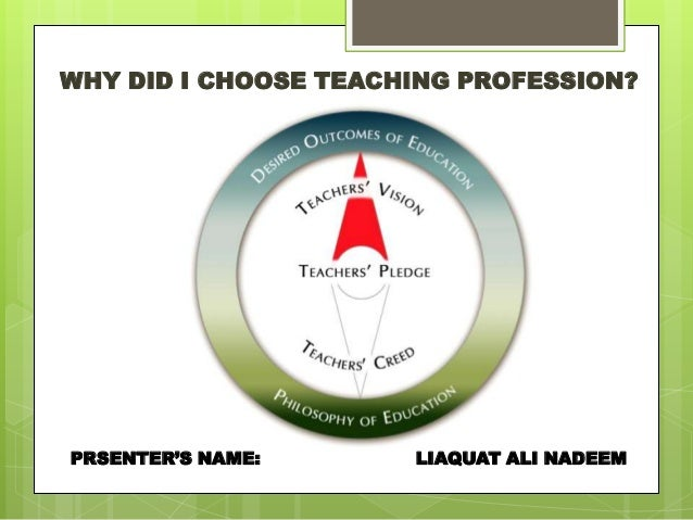 teaching profession why have i chosen teaching as profession why did i choose teaching profession prsenter s liaquat ali nadeem