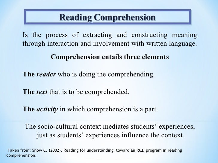 constructing meaning through reading and writing Activities for integrating reading and spack, 1998b, zamel, 1992) meaning is created through to integrate reading and writing through before-reading.