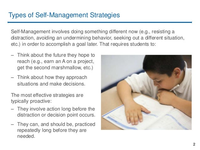 teaching self-management