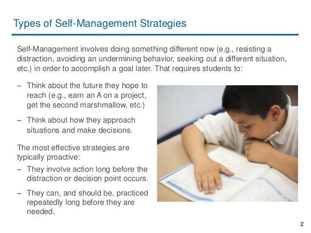 Teaching Self-Management Slide 2