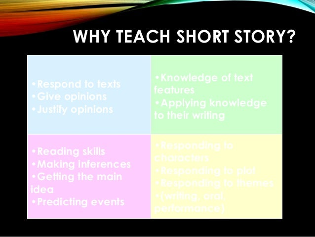 teaching novel and short stories Get an answer for 'what is a difference between a novel and a short story' and find homework help for other guide to literary terms questions at enotes.
