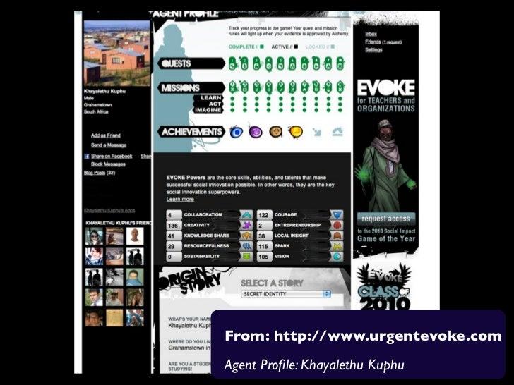 From: http://www.urgentevoke.comAgent Profile: Khayalethu Kuphu