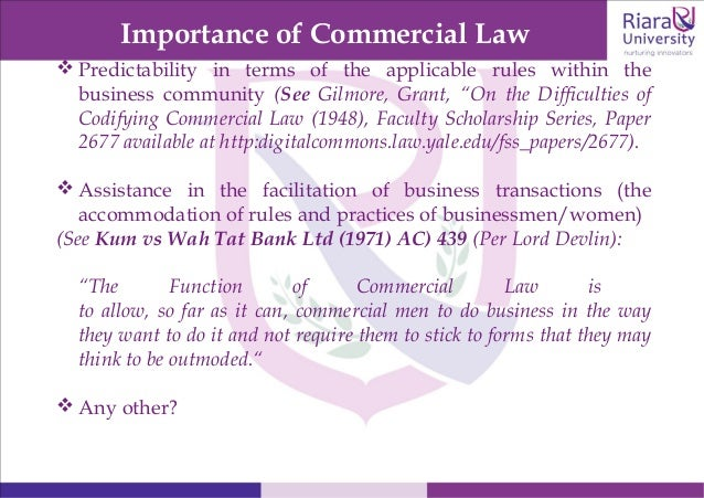Teaching slides for commercial law