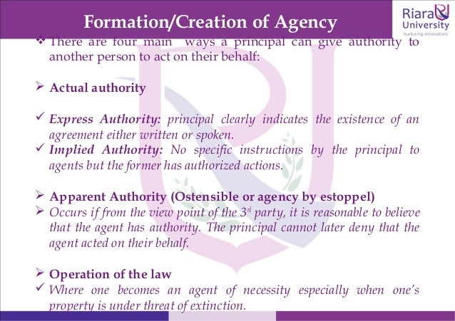 agency of necessity in commercial law