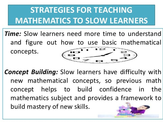 slow learners Slow learners - free download as word doc (doc), pdf file (pdf), text file (txt) or read online for free.