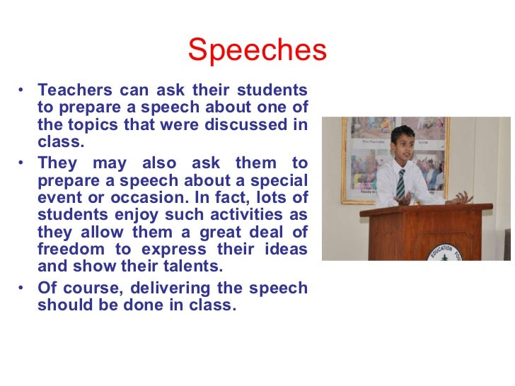 teaching speaking speeches