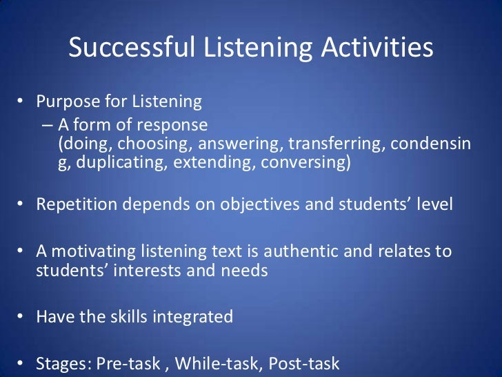 Teaching Speaking & Listening