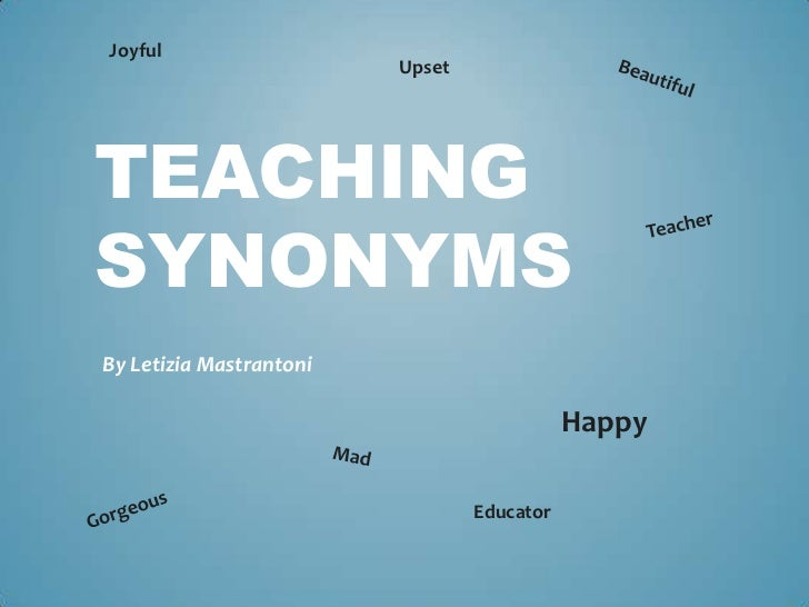 Teaching synonyms