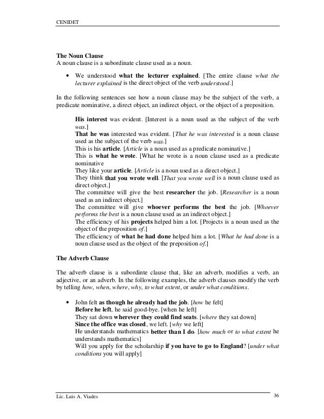 Teaching technical englishwriting – Noun Clause Worksheet