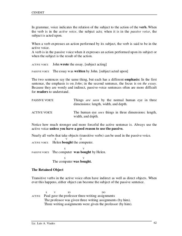 Essay technical english