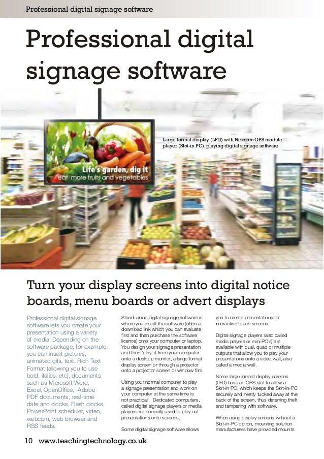 digital signage software comparison guide pdf