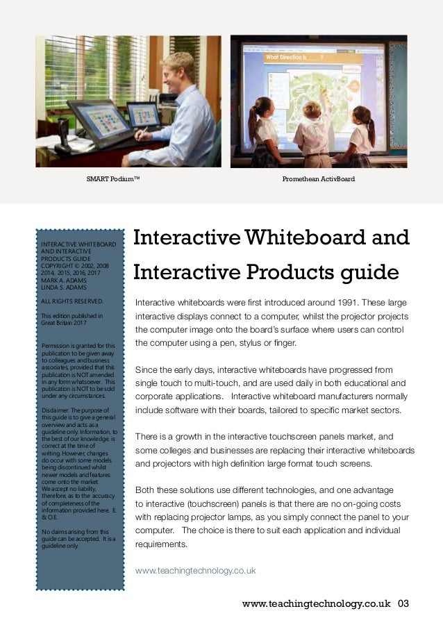 Interactive Whiteboard and Interactive Products guide 2017
