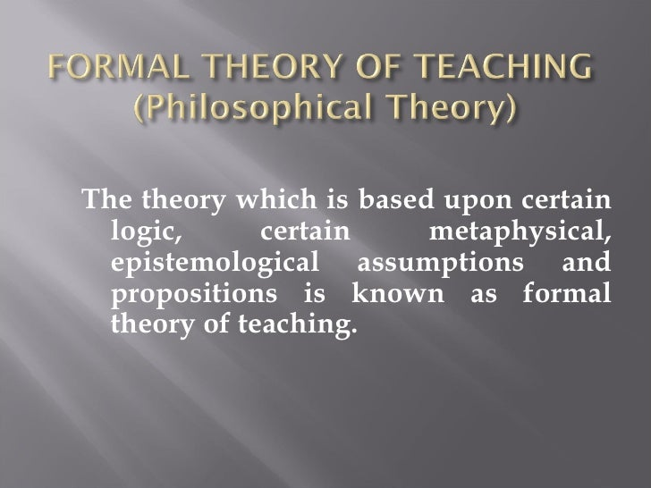 "teaching theories • kerlinger(1965) has defined the terms theory of teaching: ""a theory of teaching is a set of interrelated constructs, definitions, propositions which present a systematic view of teaching."