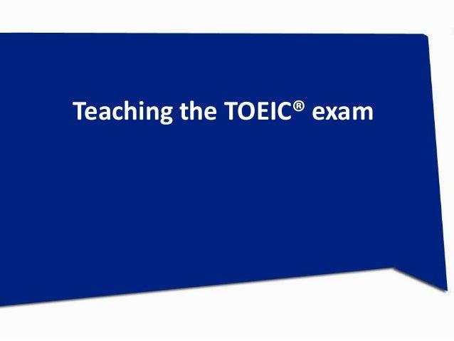 Teaching the TOEIC® exam