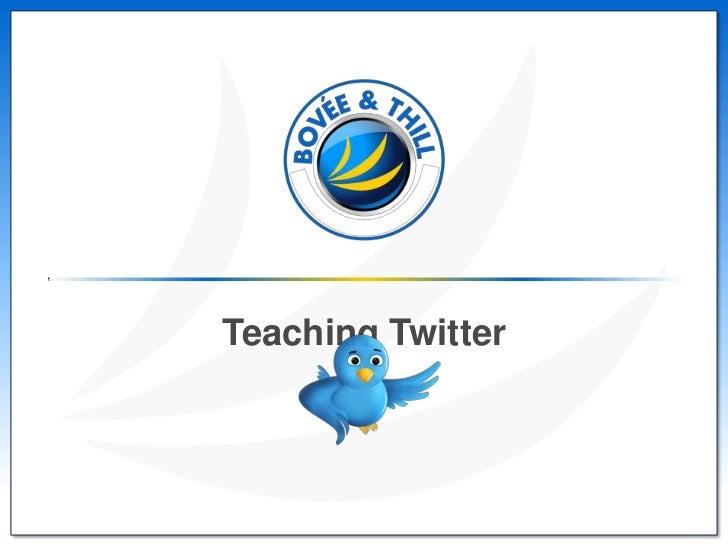 Teaching Twitter