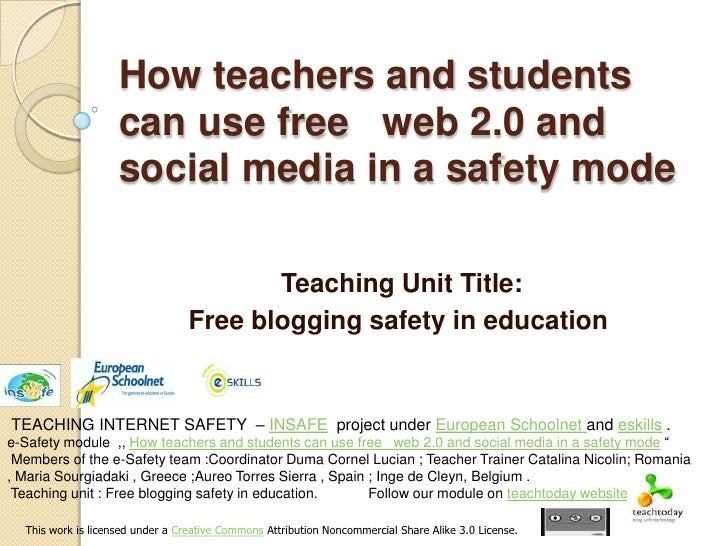 Teaching unit , free blogging safety in education