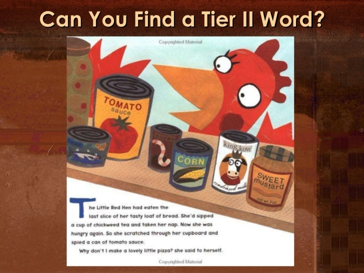 Can You Find a Tier II Word?