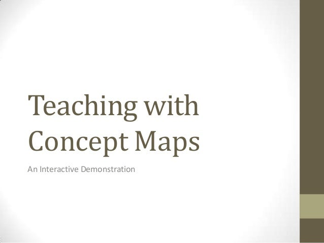 Teaching withConcept MapsAn Interactive Demonstration