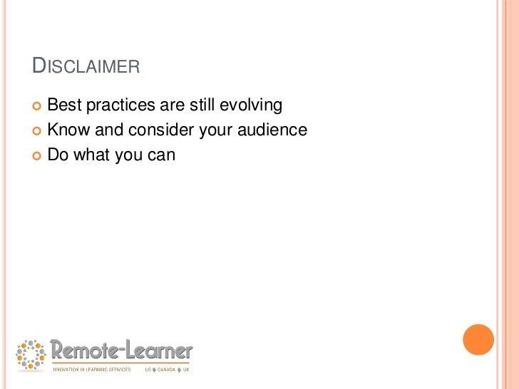 Best practices in Moodle Course Design Slide 2