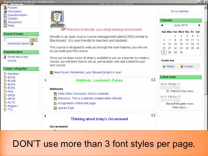 Best practices in Moodle Course Design Slide 3