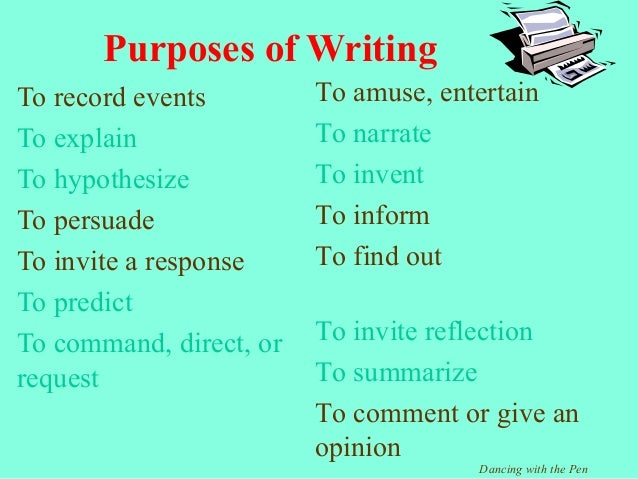 the purpose of essay writing