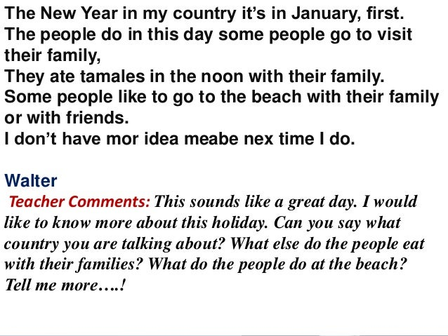 New Year Essay