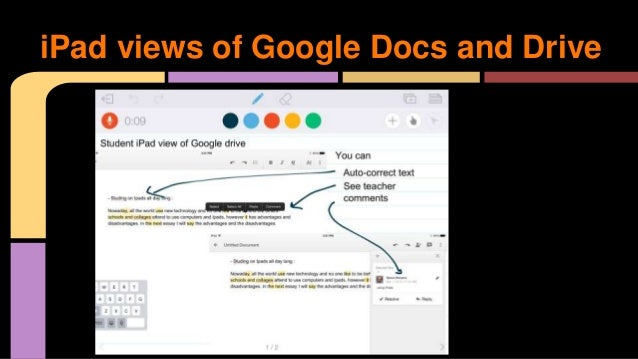 Teaching writing using voice on ipads for Google docs continuous page