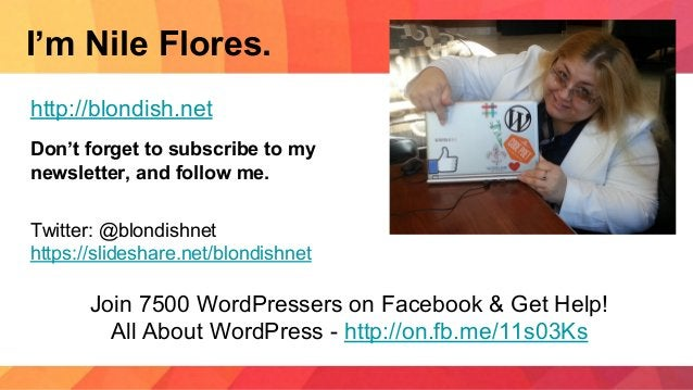 I'm Nile Flores. http://blondish.net Don't forget to subscribe to my newsletter, and follow me. Twitter: @blondishnet http...