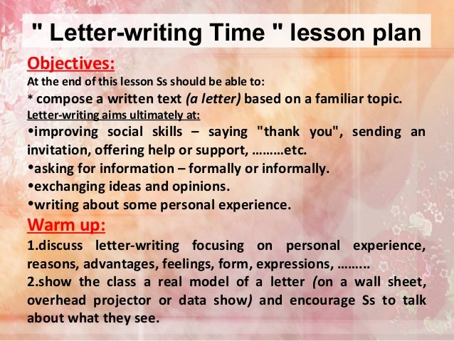 Letter-writing Lesson Plan