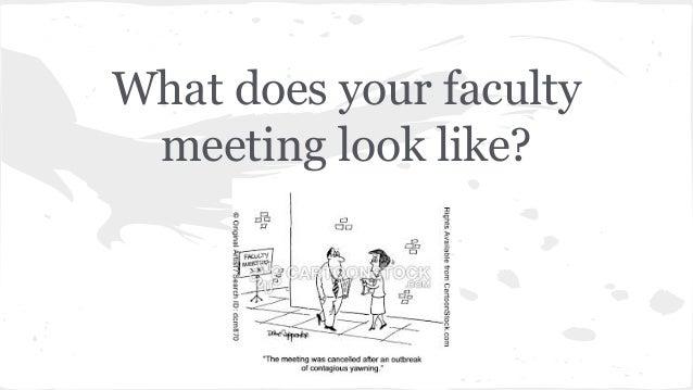 TeachMeetNJ 2014 Dynamic Faculty Meetings