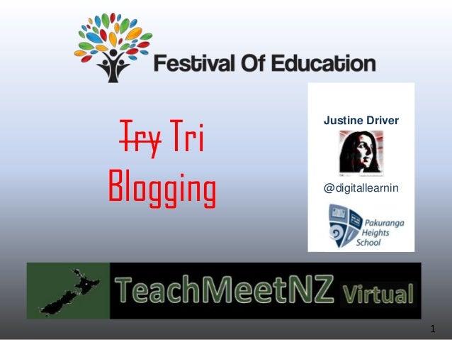 Try Tri Blogging Justine Driver @digitallearnin 1