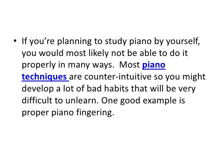 Teach Yourself Piano Slide 2