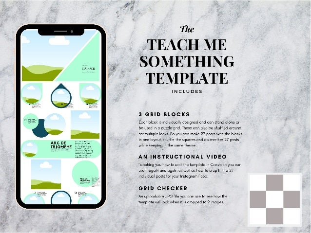 Teach me something Instagram puzzle template