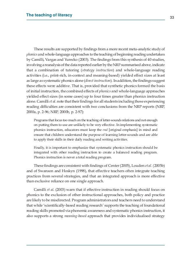 Teach Reading Australia Inquiry Report Recommendation