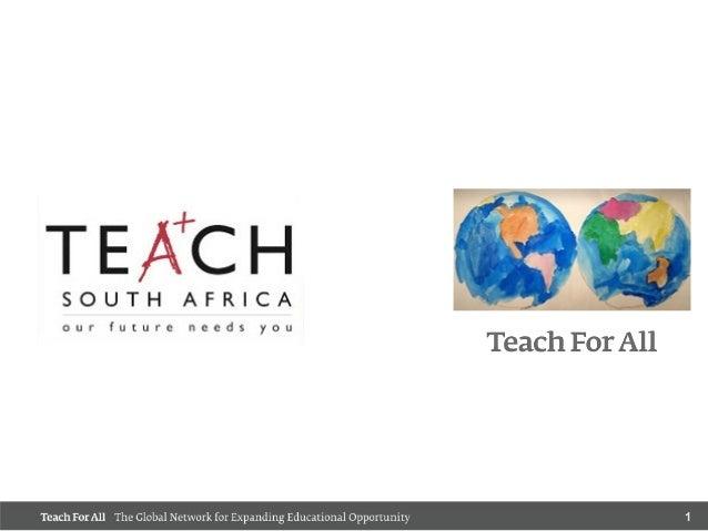 Teach SA & Teach For All 2014 plan- SAESC