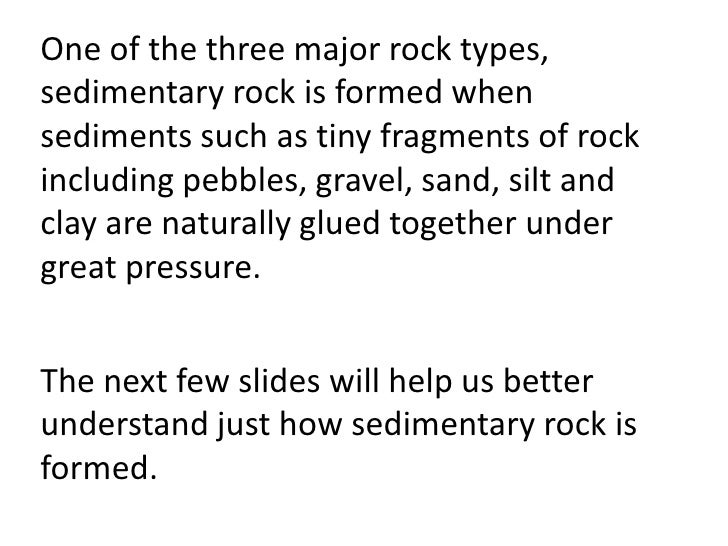 SEDIMENTARY ROCK teach – Sedimentary Rock Worksheet