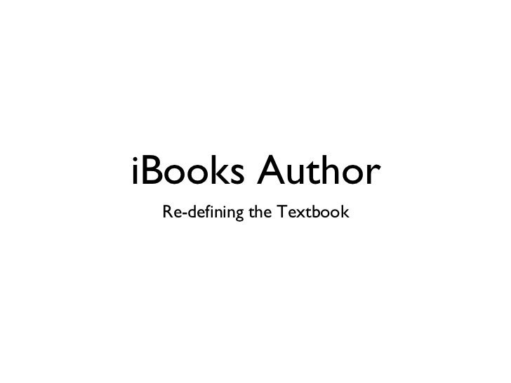 iBooks Author Re-defining the Textbook