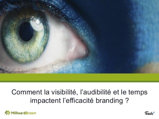 Comment la visibilité, l'audibilité et le temps impactent l'efficacité branding ?