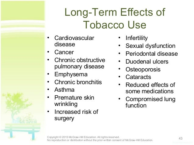 what are the long term effects of tobacco use